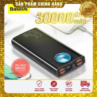 (Tặng kèm cáp 100W) Sạc dự phòng Baseus 65W PD 30000mAh sạc nhanh dùng cho Smartphone, iPad ,Laptop Macbook…🍀