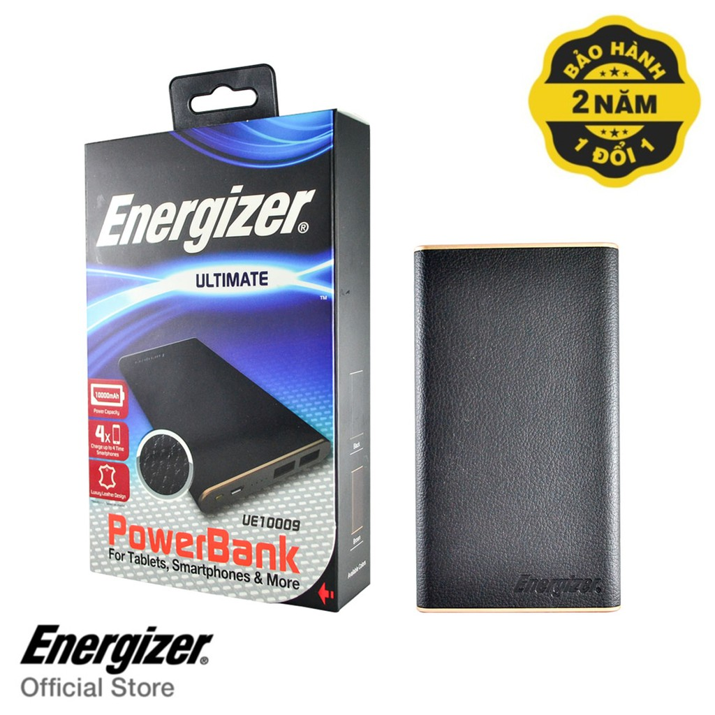 Pin sạc dự phòng Energizer 10,000mAh màu Đen - UE10009BK
