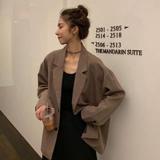 Áo Khoác Vest Form Rộng Phong Cách Retro Thanh Lịch Cho Nữ