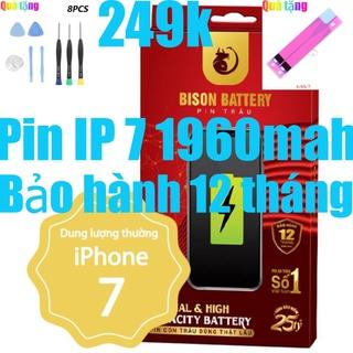 Pin iPhone 7 Con Trâu Bison 1960mAh chính hãng thumbnail