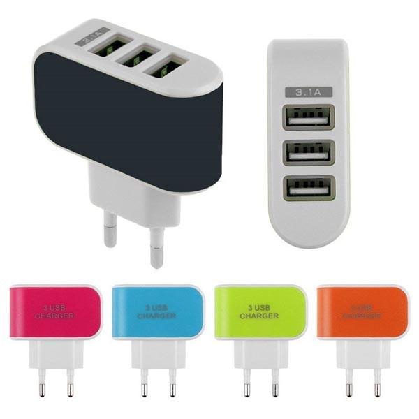 CỦ SẠC ĐIỆN THOẠI ĐA NĂNG 3 CỔNG USB (GIÁ TỐT)
