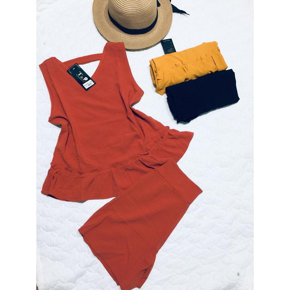 Bộ đũi nữ trẻ trung, đũi Nhật 100% hàng thiết kế