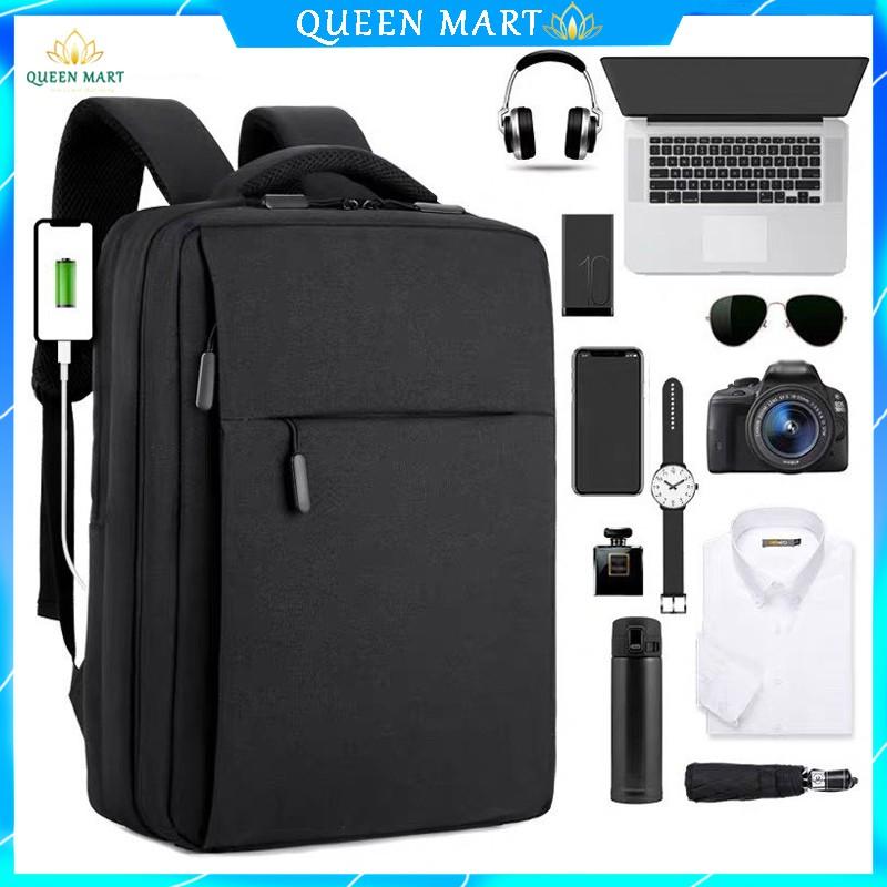 BALO Đa Năng Laptop Thời Trang Nam Nữ Hàn Quốc đi học du lịch màu đen - Q017