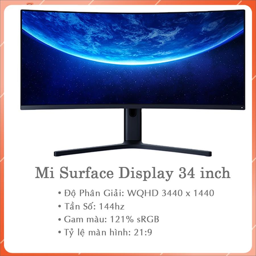 Màn hình xiaomi 34 inch cong chuẩn 21:9 - Màn hình ULTRAWIDE 34 inch XIAOMI MI SURFACE