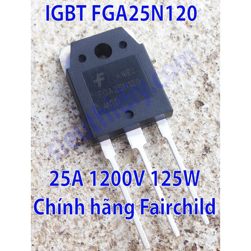 IGBT 25A 1200V 125W FGA25N120 Fairchild chính hãng dùng cho bếp từ