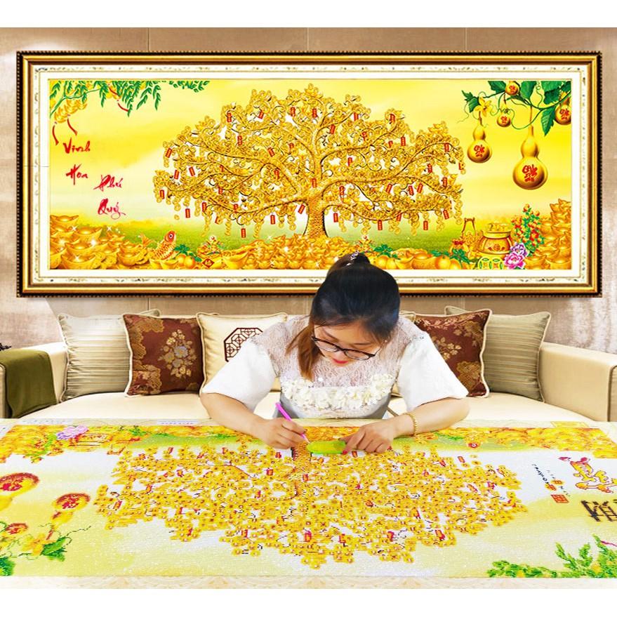 Tranh thêu chữ thập phong cảnh chưa thêu Cây Tiền Vàng Vinh Hoa Phú Quý X8106 - 3202102 , 1145923583 , 322_1145923583 , 147000 , Tranh-theu-chu-thap-phong-canh-chua-theu-Cay-Tien-Vang-Vinh-Hoa-Phu-Quy-X8106-322_1145923583 , shopee.vn , Tranh thêu chữ thập phong cảnh chưa thêu Cây Tiền Vàng Vinh Hoa Phú Quý X8106