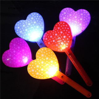 ♕Love Heart Light Up Glow Stick Concert Party Decorative Light Wand Rod Prop