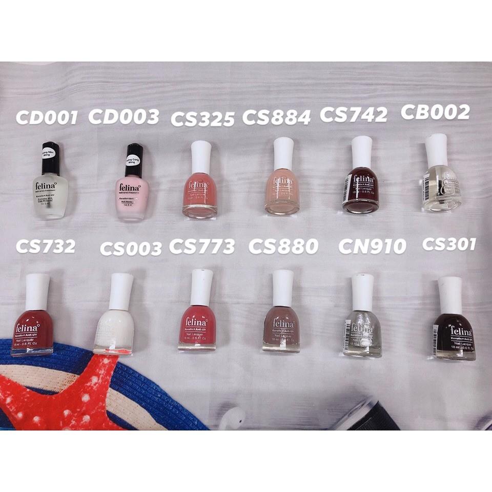 Sơn Móng Felina Keratin Anti-UV Nail Lacquer 18ml | Shopee Việt Nam