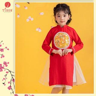 Áo dài bé gái TIHON áo dài tết cho bé từ 5 - 14 tuổi ADT0850002