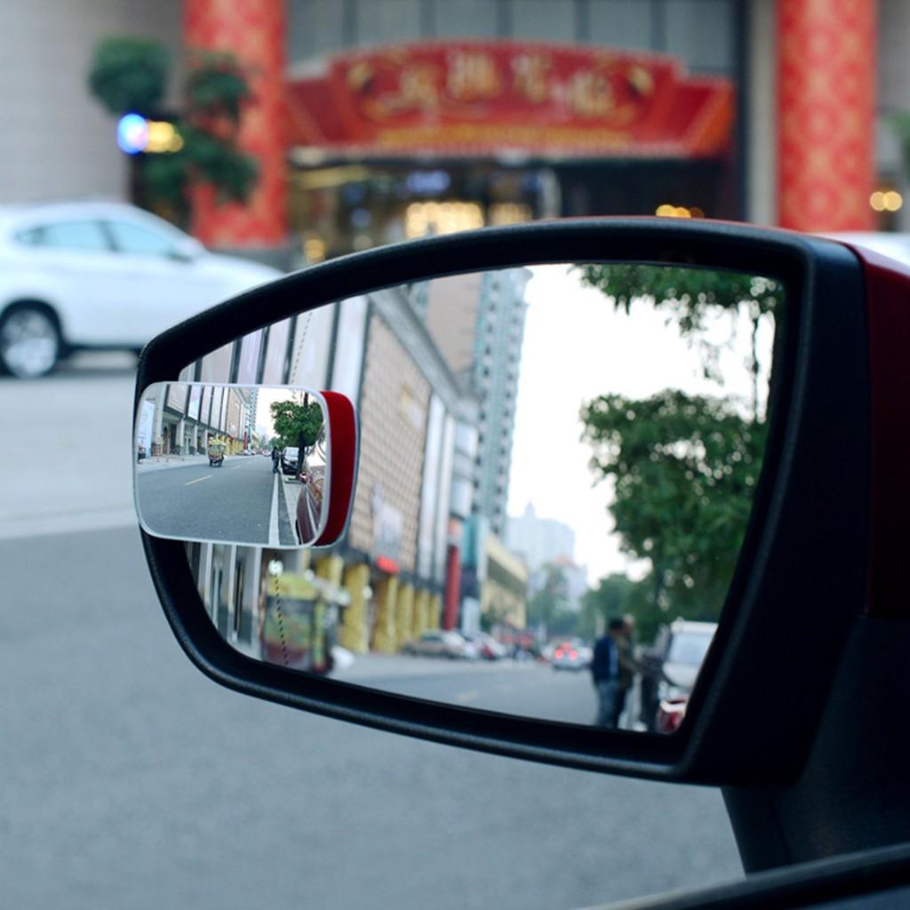 Gương Cầu Xóa Điểm Mù Ô Tô Xe Hơi LOẠI TỐT Hình Tròn, Oval, Chữ Nhật, Rẻ Quạt