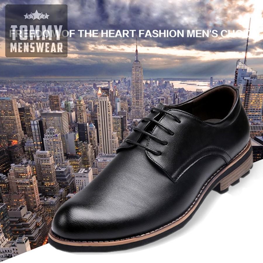 Giày Da Nam Đẹp - TẶNG TẤT - Giày Công Sở Nam Chuẩn Soái Ca GD39