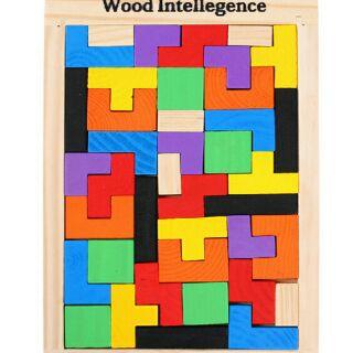 Bộ xếp hình gỗ giúp trẻ thông minh