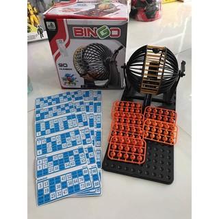 Bộ Lôtô Bingo 90 Số Lồng Sắt Loại To-48 Tờ Dò