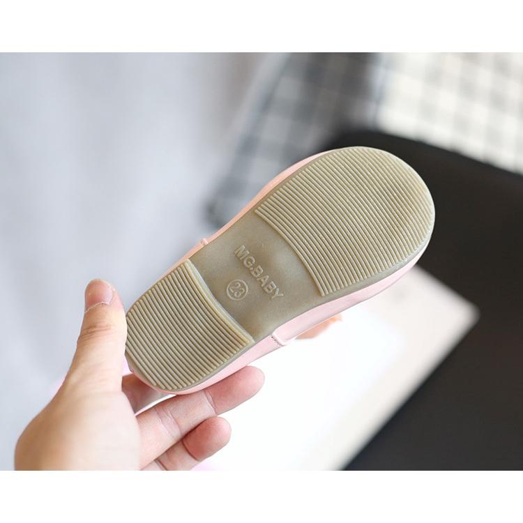 Thời Trang Giày Búp Bê Da Đế Mềm Chống Trượt Màu Kẹo Ngọt Đính Nơ Lớn Phong Cách Hàn Quốc Cho Bé Gái