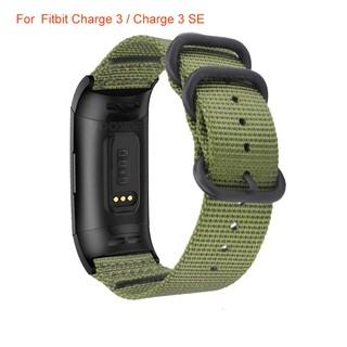 Dây da khoá thép không gỉ cho đồng hồ thông minh Fitbit Charge 3/3 SE