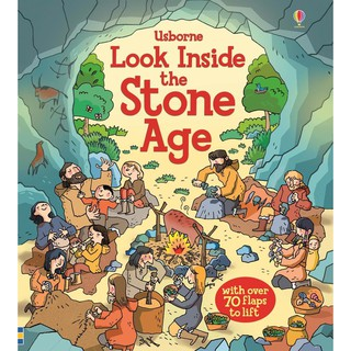 Sách lật mở Look Inside Stone Age thời kỳ đồ đá Usborne thumbnail