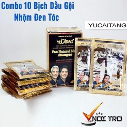 Dầu gội đen tóc thảo dược YICAOTEN - hộp 10 gói