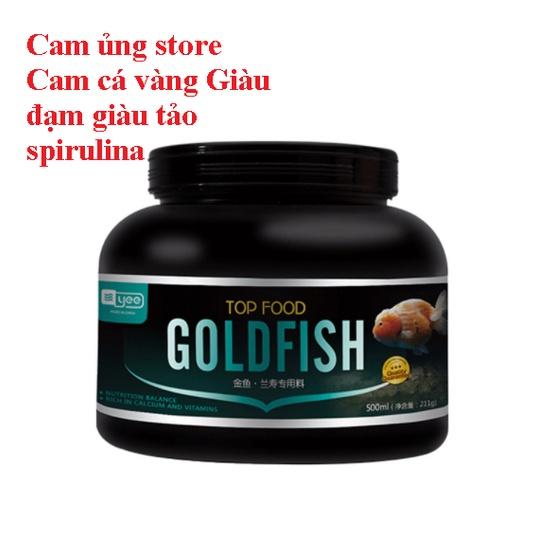 Cám Cá Vàng Cám Nổi-Thức Ăn Cá Vàng Tốt - Cám Cá Vàng Hàng Đầu - Hộp 1280ml giàu Đạm