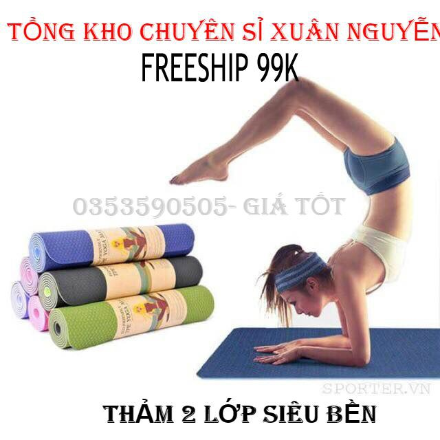 ❌❌❌ LOẠI 1 Thảm tập yoga 2 mặt loạ