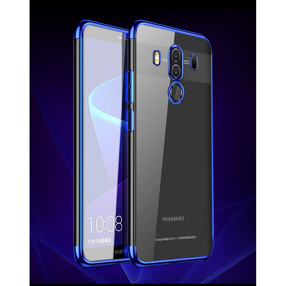 For Huawei Mate 10 Pro Slim Electroplate Plating TPU Soft Clear Phone Case
