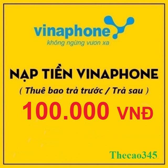 Thẻ Cào Vinaphone 100k Uy tín - Thecao345