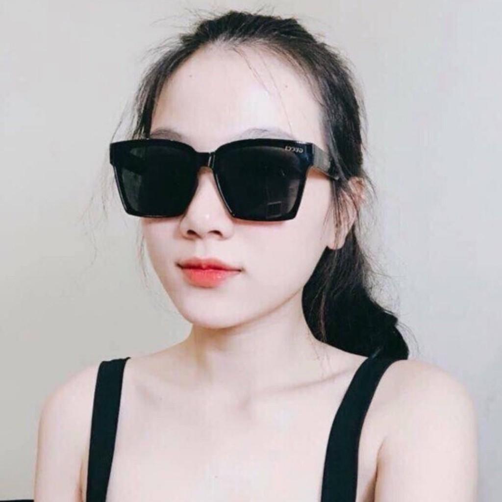 Kính Mắt Nữ Thời Trang Vuông Tràn Viền Chống Nắng UV Phân Cực N003