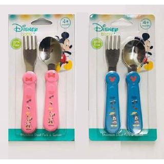 Bộ Thìa và Nĩa Inox xanh hồng Disney DN80437