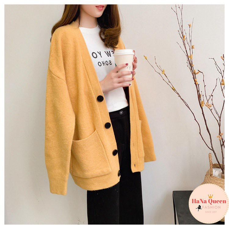 [Sẵn Hàng]Áo khoác len Cardigan nữ phong cách Hàn Quốc