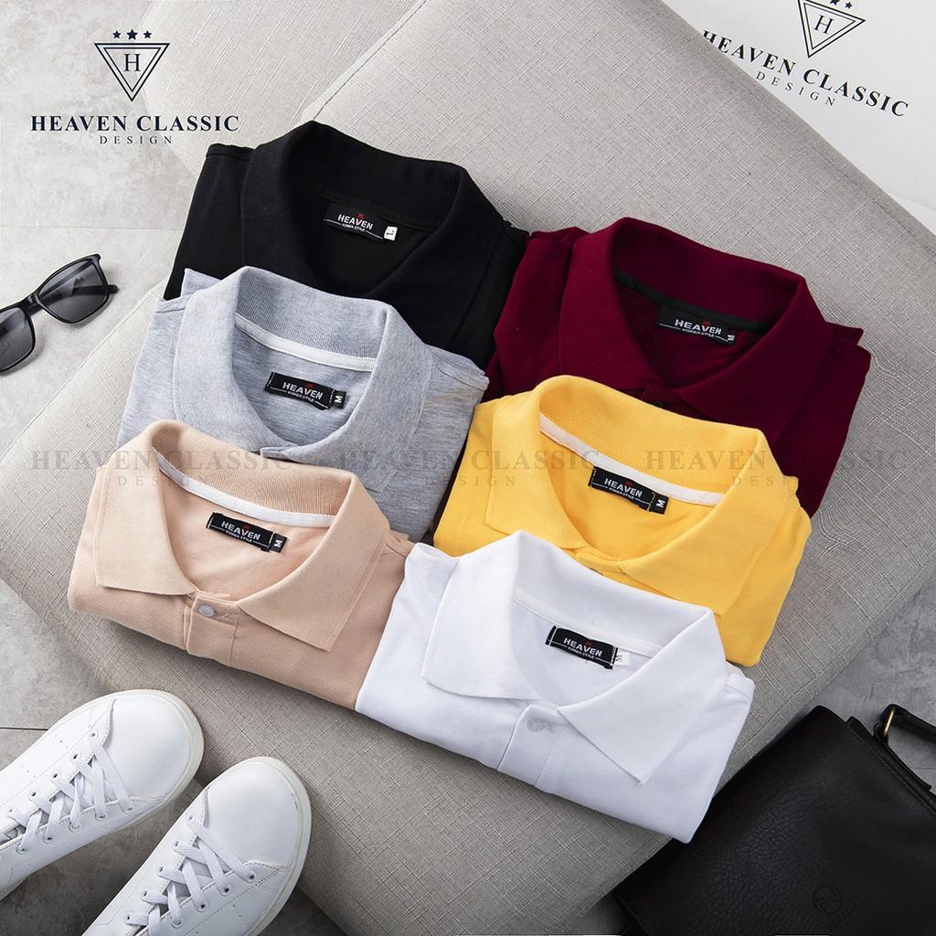Áo Polo nam trơn 6 màu cực đẹp vải cotton tici mã hàng P01 2020