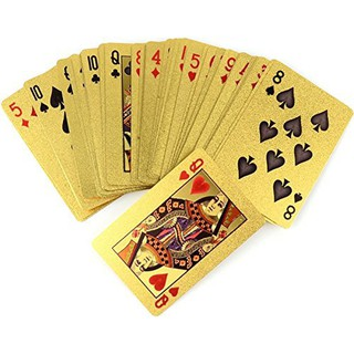 [ĐỒ CHƠI TẾT] Bộ bài tây mạ vàng hình đô la cực long lanh chơi Tết