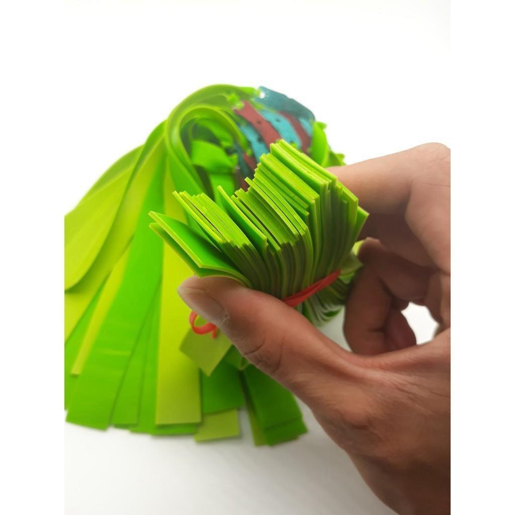 DÂY NÁ CAO SU - DÂY THUN DẸP 2 LỚP DÀY 1MM (màu ngẫu nhiên) giá rẻ