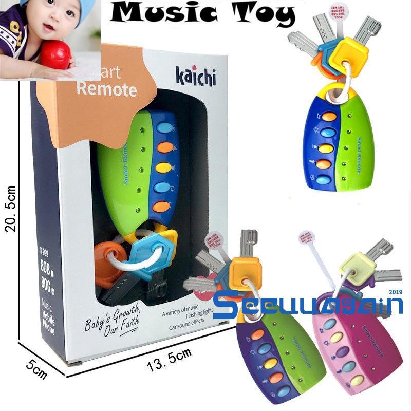❀Yaho❀New Car Key Toy kids Musical Keys Baby´s Sound and Light Pretend Toy Keychain