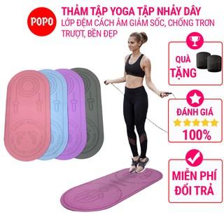 Thảm nhảy dây thảm tập yoga tại nhà chống sốc, cách âm họa tiết đặc biệt, lớp đệm cao cấp, chống trơn trượt POPO YGW34 thumbnail