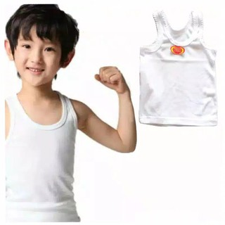 Bộ 6 áo thun SINGLET màu trắng cho trẻ em SIZE S M L XL XXL