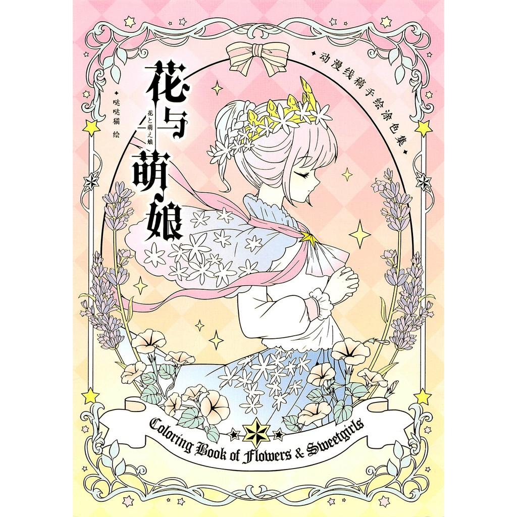 line art tranh tô màu Những nàng tiên hoa (bán từ 5 tranh)