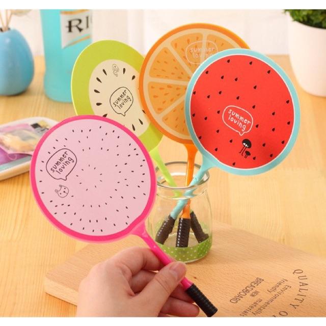 Bút bi quạt hình hoa quả