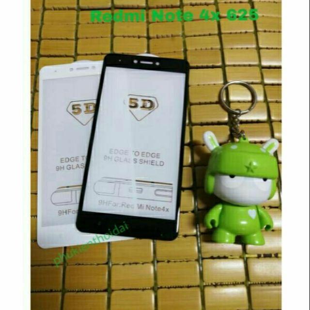 Kính Full 5D Xiaomi Redmi note 4x