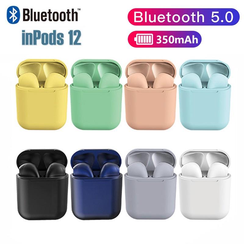 Tai nghe Bluetooth không dây i12 TWS có hộp sạc chuyên nghiệp cho IOS Android