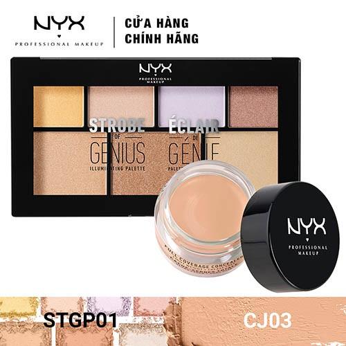 Bộ đôi Kem che khuyết điểm & Bảng phấn bắt sáng NYX Professional Makeup (CJ03 + STGP01) _ TUNX00047C - 3478868 , 1307089726 , 322_1307089726 , 800000 , Bo-doi-Kem-che-khuyet-diem-Bang-phan-bat-sang-NYX-Professional-Makeup-CJ03-STGP01-_-TUNX00047C-322_1307089726 , shopee.vn , Bộ đôi Kem che khuyết điểm & Bảng phấn bắt sáng NYX Professional Makeup (CJ03