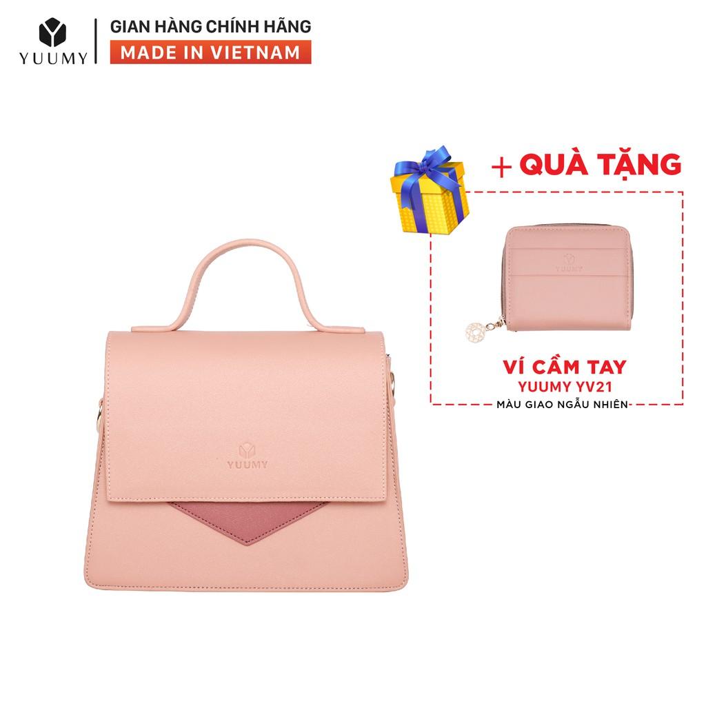 Túi đeo chéo nữ thời trang YUUMY YN72 nhiều màu (Tặng ví cầm tay YV21)