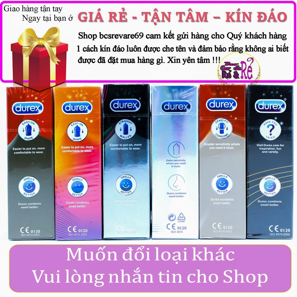 [FREE SHIP] Combo 6 Hộp Bao Cao Su Durex 70 cái tùy chọn