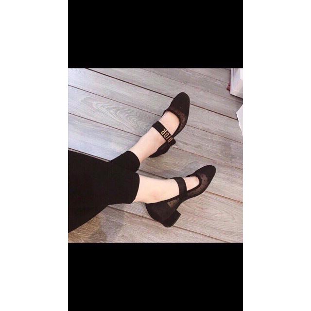 Giày cao gót nữ, giày cao gót chấm bi cao 5p chất đẹp