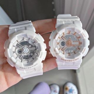Đồng hồ nữ HSET dây nhựa trắng kiểu dáng năng động cho tuổi teen