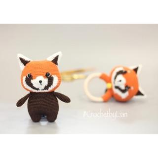 [Thú len móc handmade] Red Panda , lục lạc làm quà tặng cho bé