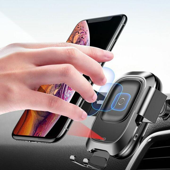 """Gía đỡ điện thoại kiêm sạc không dây thương hiệu Baseus cao cấp WXZN-B01 - màn hình từ 4"""" đến 6.5"""""""