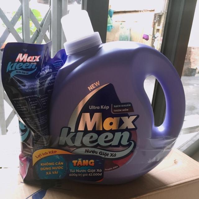 Chai Nước giặt mãkleen (2,4kg) hương nước hoa huyền diệu-tặng túi nước giặt xả 600g