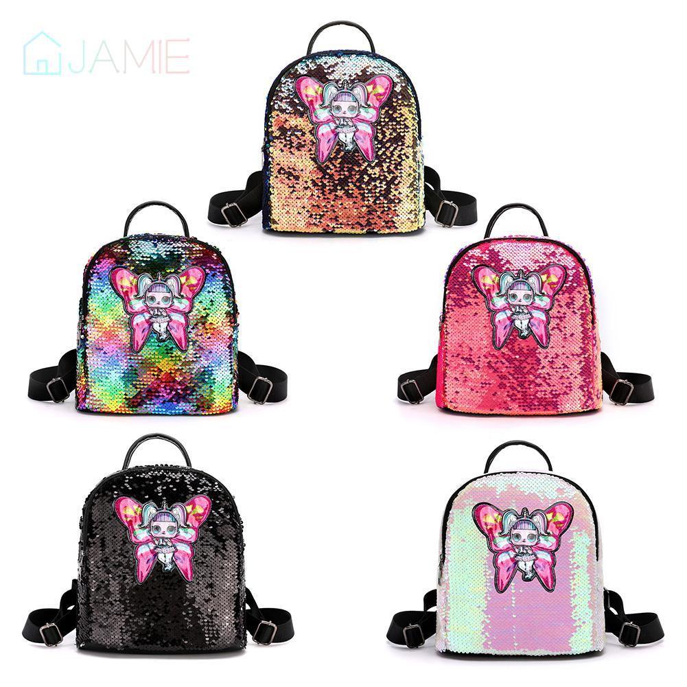 🌸Glitter Women Sequins Backpack  Butterfly  Travel