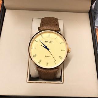 Đồng hồ nam nữ HALEI máy Nhật Chính Hãng dây da cao cấp, chống ghỉ chống bay màu, chống xước chống nước tuyệt đối HL540