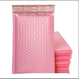 10 Túi bì bong bóng chống sốc gói hàng màu HỒNG đủ size [hàng sẵn sll] đóng hóa nhanh chóng tiện lợi thumbnail