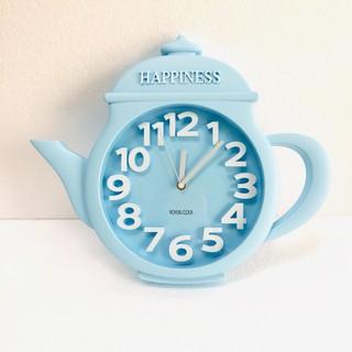 Đồng hồ treo tường hình ấm trà xanh da trời 45*38*5cm